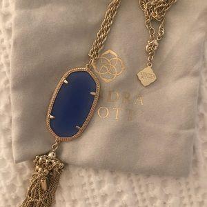 Kendra Scott RARE Periwinkle Blue Rayne Necklace